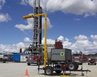 Oil-drilling separation waste management application