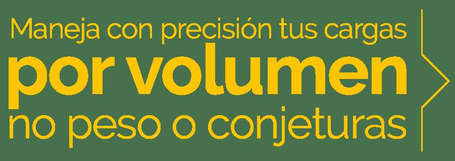 Maneja con precisión tus cargas por volumen, no peso o conjeturas