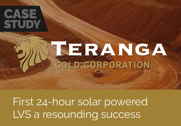 First solar powered LVS is a success at Teranga Gold