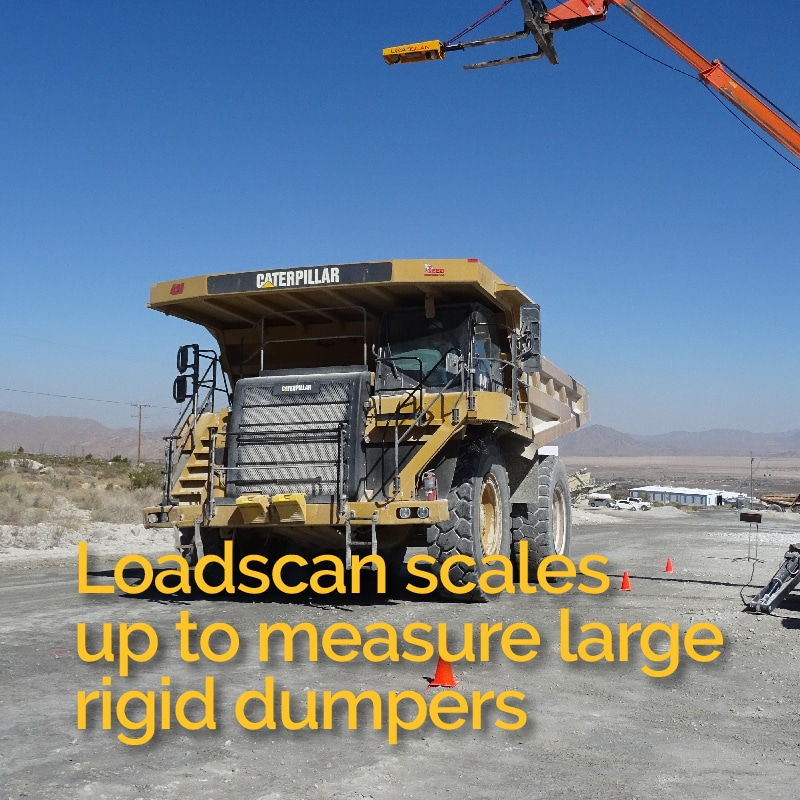 Loadscan scales up to measure large rigid dumpers