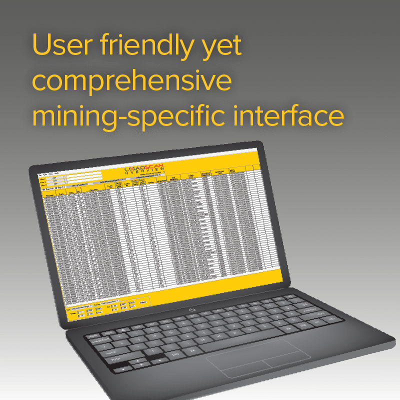 User friendly yet comprehensive mining-specific interface