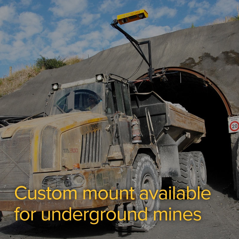 Custom mount available for underground mines