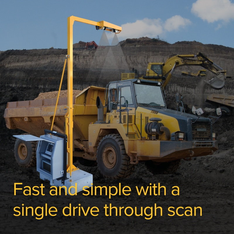 Fast and simple with a single drive-through scan