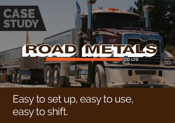 No half measures for Road Metals Ltd – Loadscan is easy to use, set up and change location