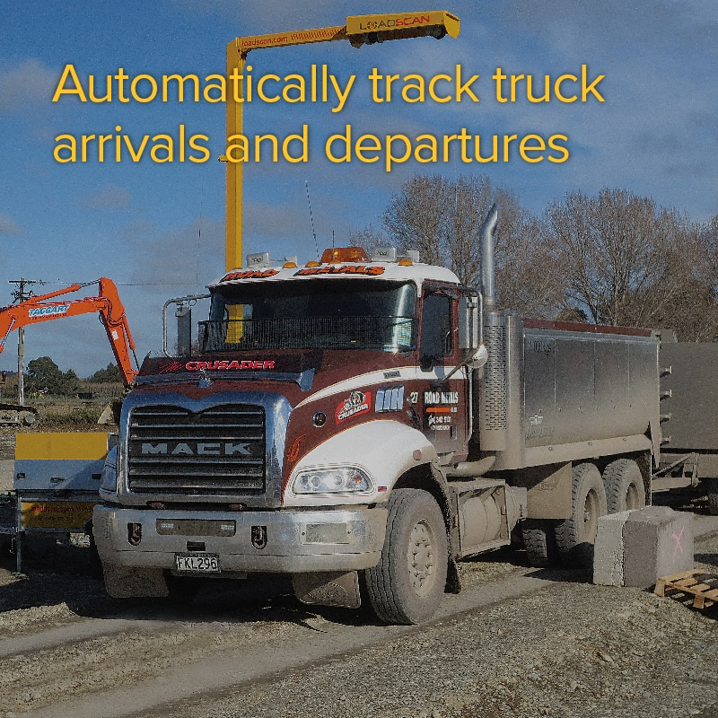 Automatically track truck arrivals and departures