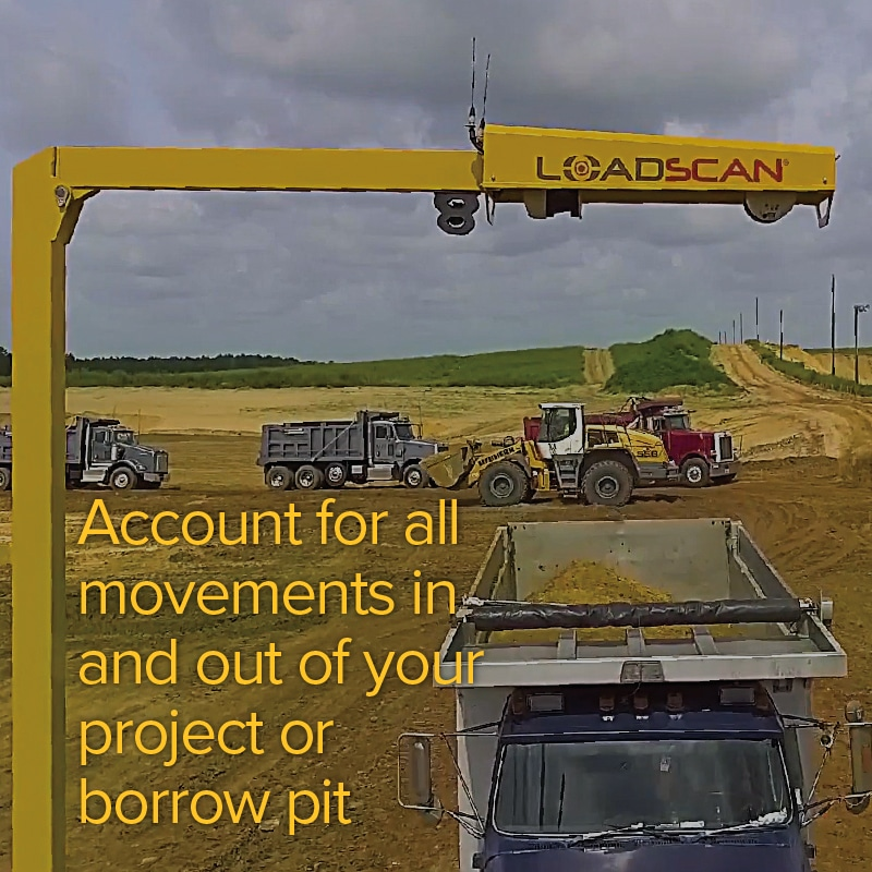 Account for all movements in and out of your project or borrow pit