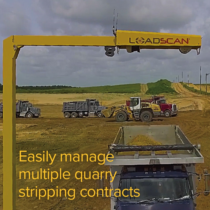 Easily manage multiple quarry stripping contracts