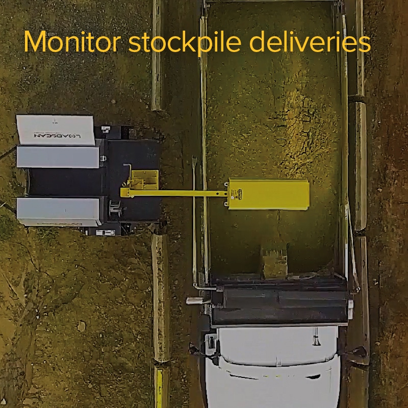 Monitor stockpile deliveries