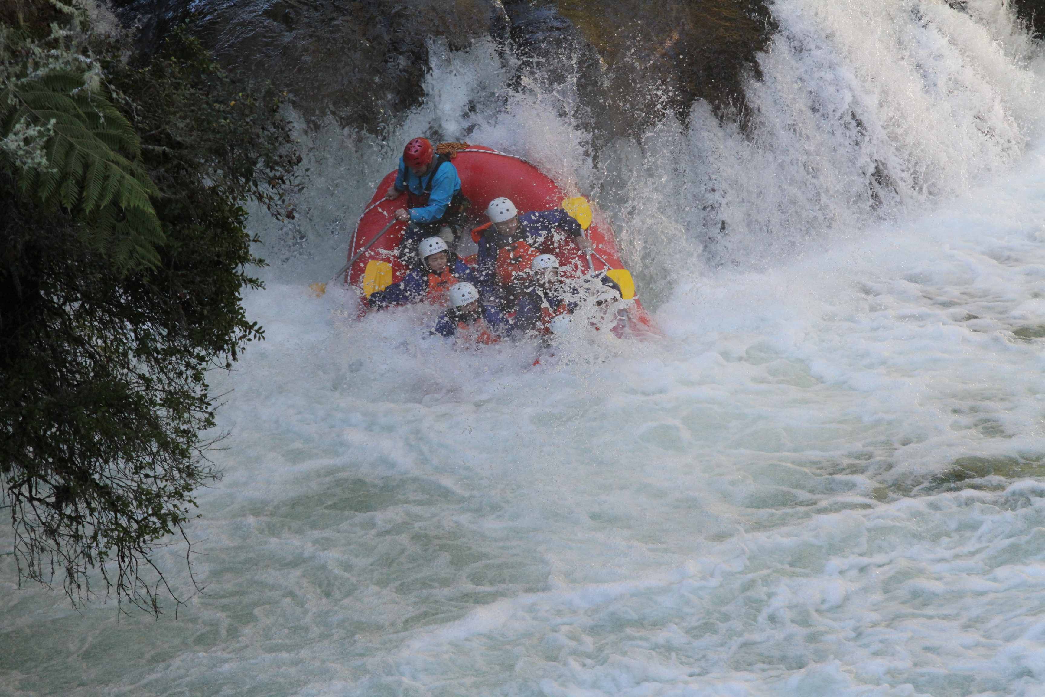 Loadscan team going down waterfall