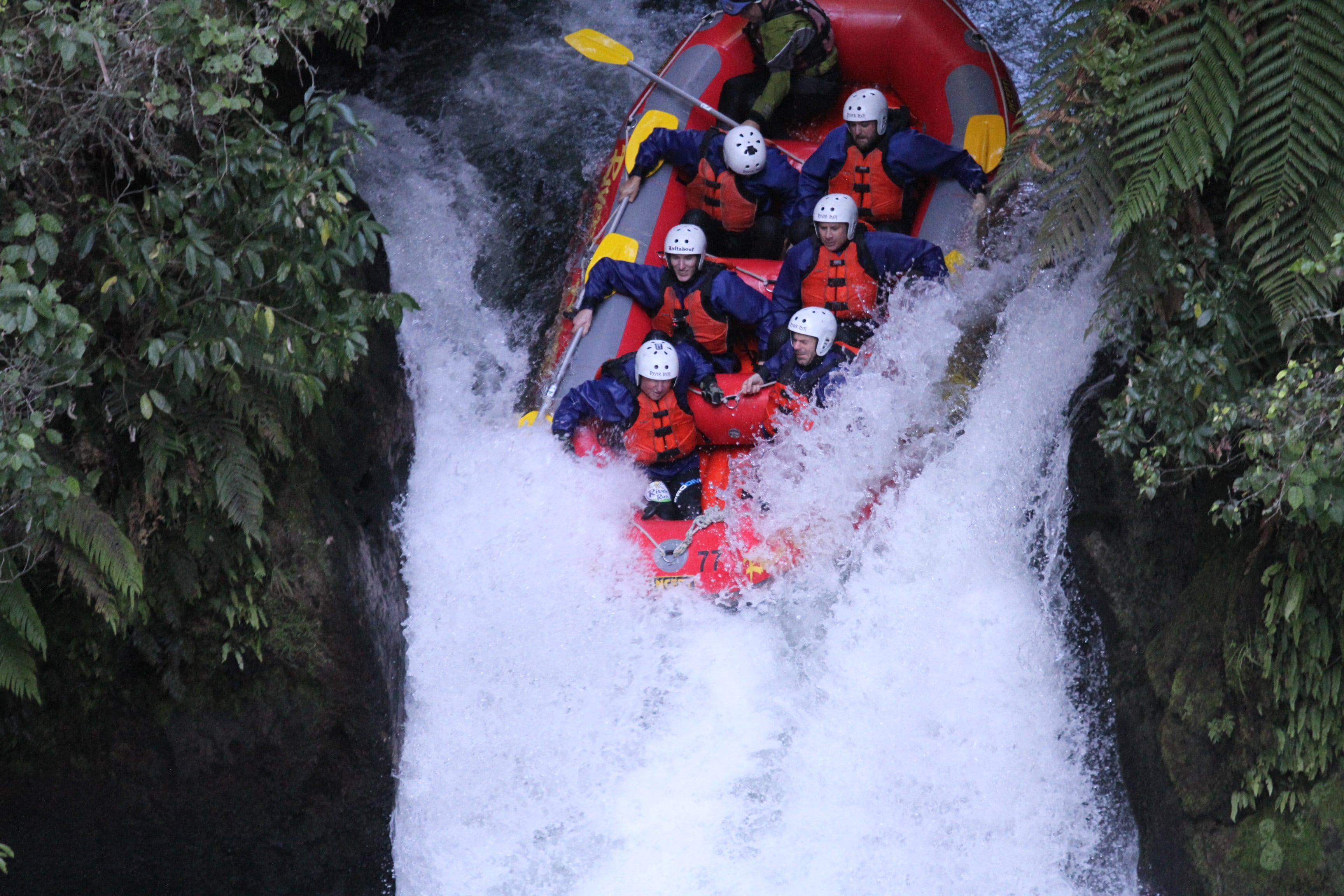 Loadscan team white water rafting