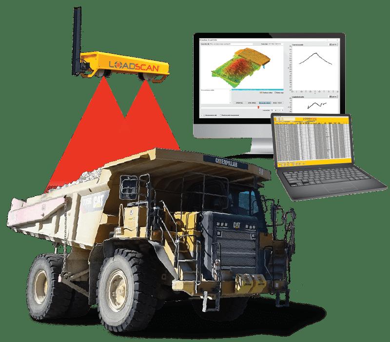 Mining Dumptruck- Load Volume Scanning