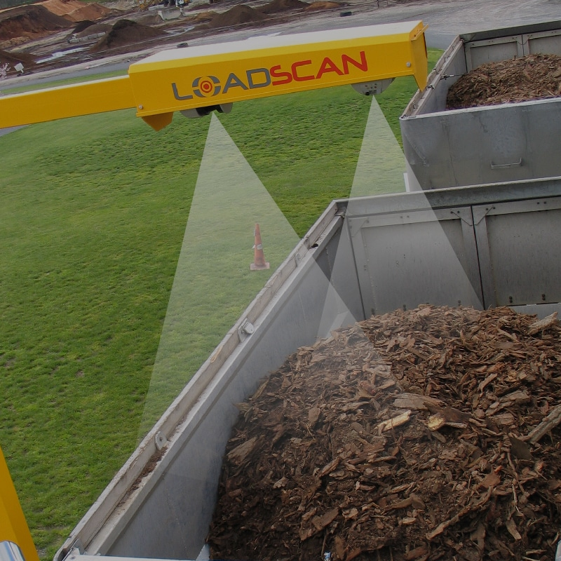 Load volume scanner - Monitor Mulch loads