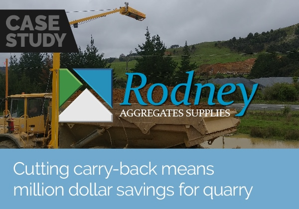 Cutting carry-back means million dollar savings for Rodney Aggregates