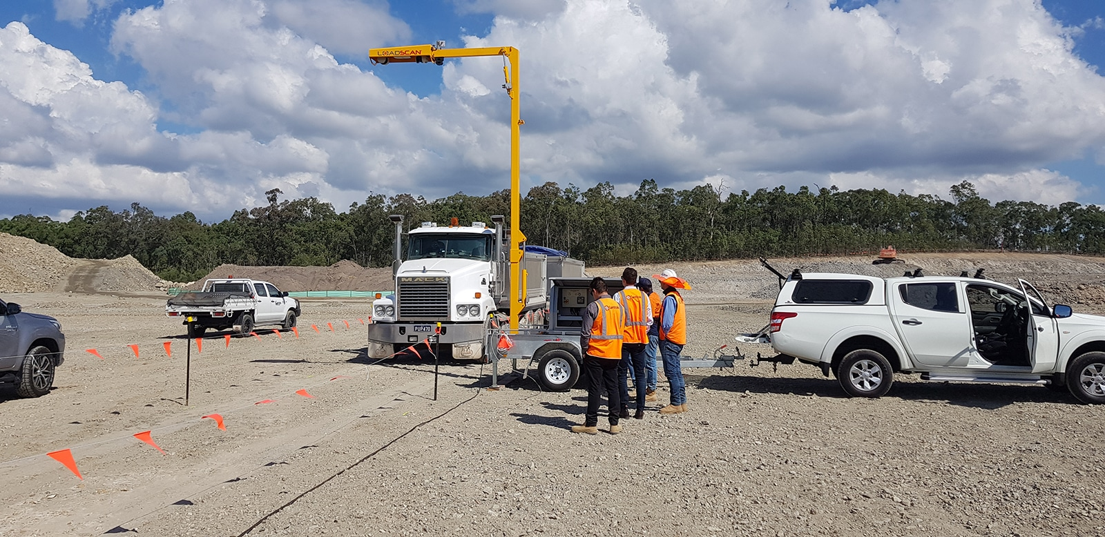 Coops truck under volume scanner Australia