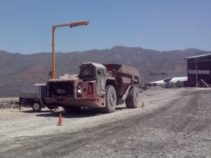 Minera Roble dumptruck Loadscan - Portable load volume scanner